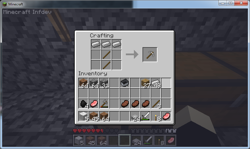 how to make cole in mindcraft