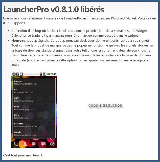 LauncherPro 0.8.1.0
